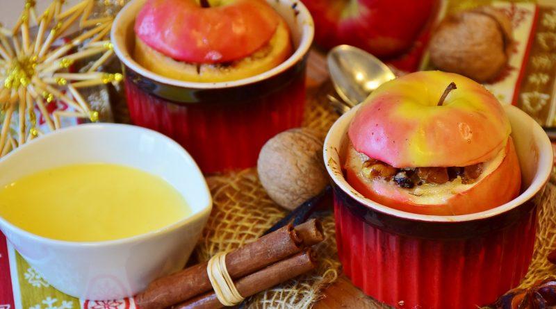 Bratapfel Auflauf mit Marzipan