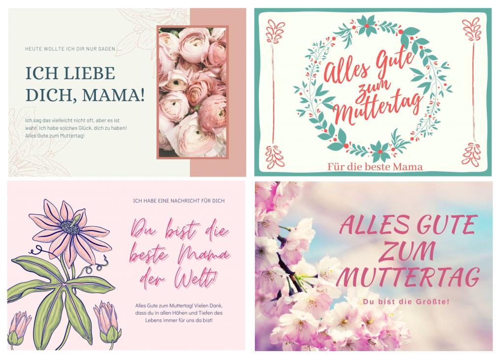 Muttertag Karten ausdrucken kostenlos